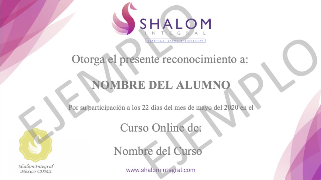 Certificado Shalom Integral